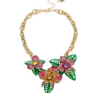 New Betsey Johnson the tropical floral necklace